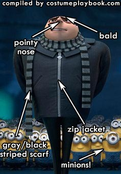 gru despicable me animation costume