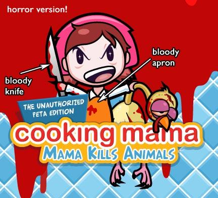 cooking mama PETA bloody costume
