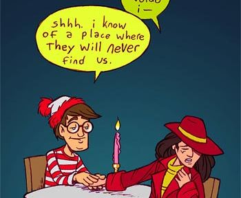 Carmen Sandiego and Waldo a couple