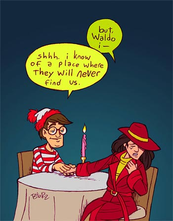 Carmen Sandiego and Waldo a couple