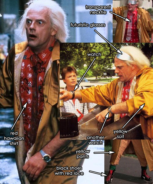 Doc Brown Back to the Future 2nd Movie Costume