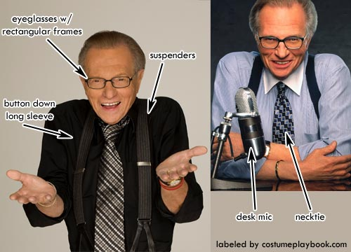 Costume - Larry King Suspenders