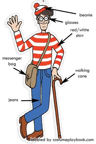 Waldo Costume and Props