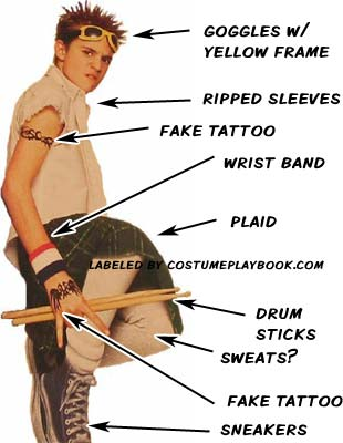 Freddy Drummer School of Rock Outfit