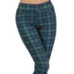 green plaid pants