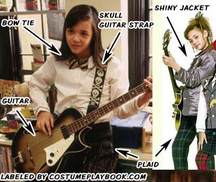 costume for katie bassist school of rock