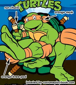 michaelangelo TMNT turtle costume