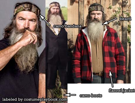 Phil Robertson outfit from Duck Dynasty