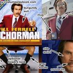 ron burgundy anchorman costume