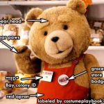 ted bear costume