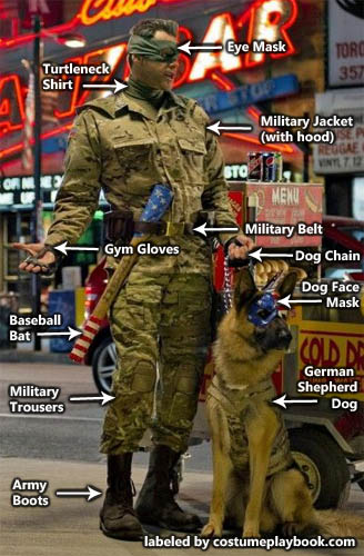 Costume for Colonel Stars and Stripes from Kickass and Dog, Eisenhower