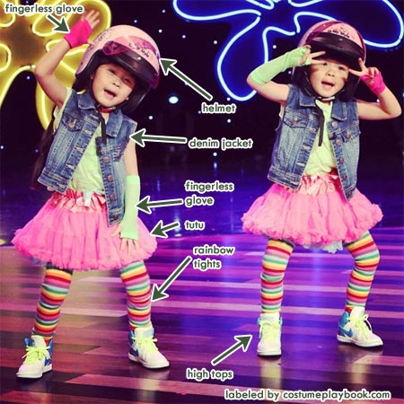 Costume of yony and zony from the ellen show