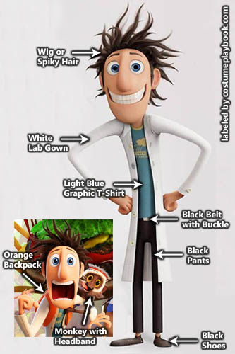 Cloudy with a Chance of Meatballs 1 and 2 Costume - Flint Lockwood