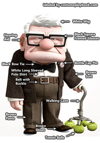 Old Carl Fredricksen Outfit   Costume Playbook - Cosplay  amp  Halloween    Carl Fredricksen Costume