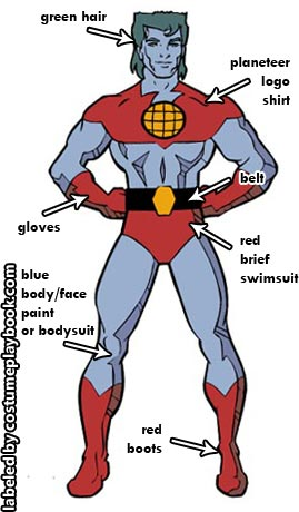 captain planet halloween outfit