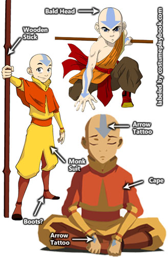 Costume for Aang Last Airbender