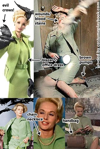 birds hitchcock costume - tippie hedren