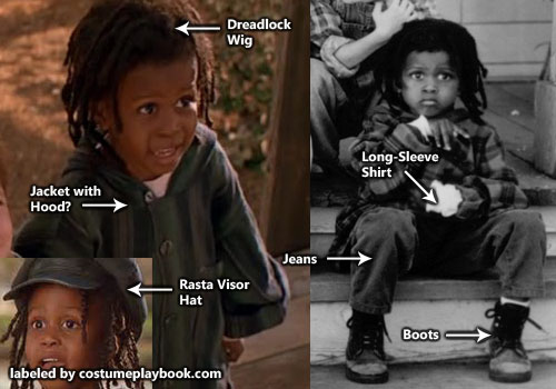 Little Rascals Buckwheat Costume