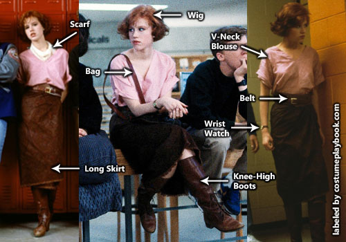 Claire Breakfast Club Costume - Molly Ringwald