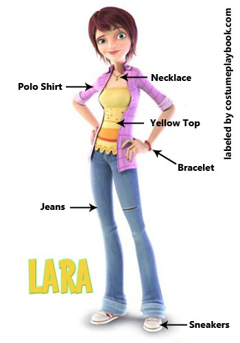 Laura costume from Unbeatables Foosball Movie