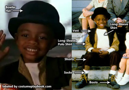 Little Rascals - Stymie Costume Outfit
