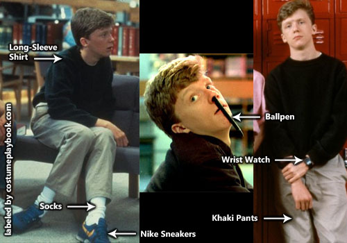 Breakfast Club - Brian Johnson Outfit