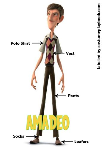 Amadeo Costume from Foosballs Underdogs Movie