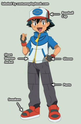 Pokemon - Ash - costume - best wishes