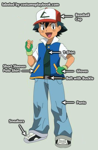 Pokemon - Ash - costume - original