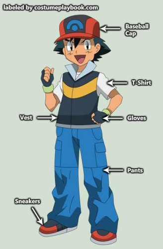 Pokemon - Ash - diamond pearl costume