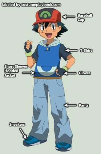 Pokemon - Ash - outfit - advanced generation