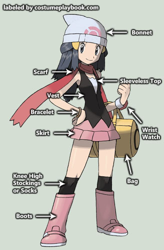 Dawn outfit - pokemon diamond pearl