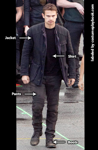 Four Tobias Divergent Movie Costume