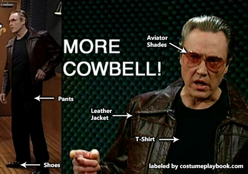 Bruce Dickinson - Walken Cowbell costume - Saturday Night Live