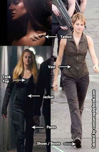 Tris Insurgent Divergent Outfit - Tattoo - Dauntless