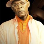 orange outfit of valentine samuel jackson from kingsman