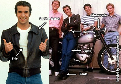 Fonzie Costume Happy Days - Winkler