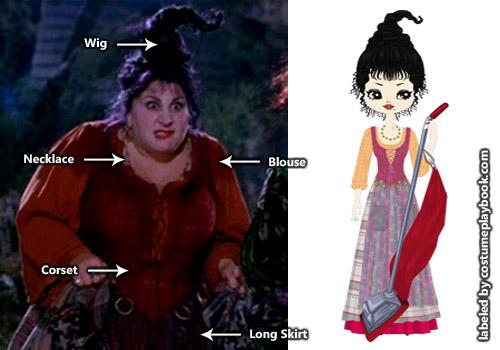 Mary Sanderson - Hocus Pocus costume