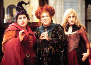 Dress up as the Sanderson Sisters u2013 the three witches from the 90s Disney movie Hocus Pocus!  sc 1 st  Costume Playbook & Hocus Pocus Costumes | Costume Playbook - Cosplay u0026 Halloween ideas