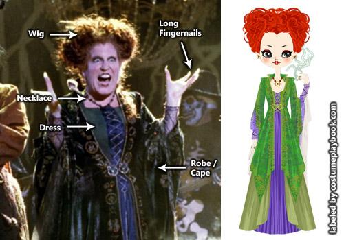 Winifred Hocus Pocus Redhead costume