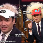 tonight show jimmy fallon visor wig