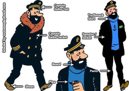 Captain Haddock Costume - Tintin
