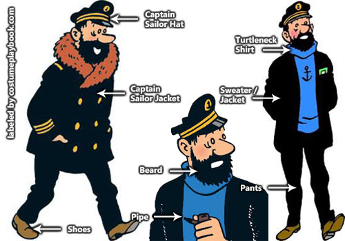 Captain Haddock Costume - Tintin