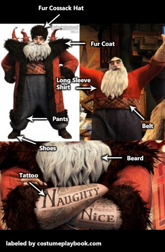 North Santa Claus costume - Rise of Guardians