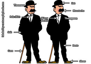 Thomson and Thompson outfit - Adventures of Tintin
