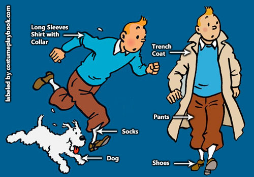 Tintin Cosplay Outfit