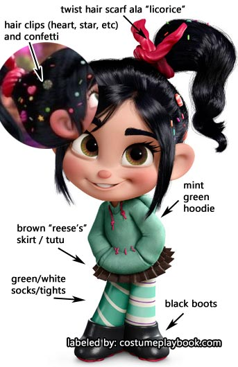 vanellope costume - wreck-it ralph