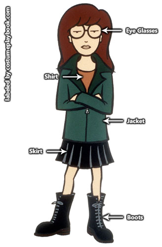 Daria costume cartoon
