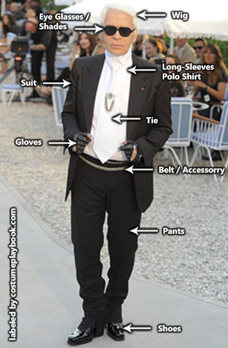 Karl Lagerfeld outfit