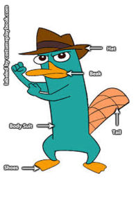 Perry Platypus Cosplay - Phineas Ferb